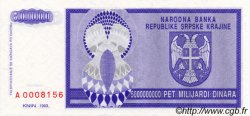 5000000000 Dinara CROATIE  1993 P.R18a NEUF