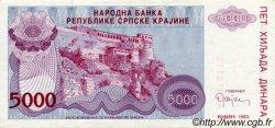 5000 Dinara CROATIE  1993 P.R20a SUP+