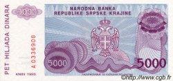 5000 Dinara CROATIE  1993 P.R20a NEUF