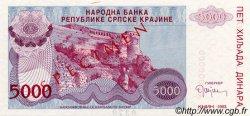 5000 Dinara CROATIE  1993 P.R20s NEUF