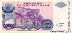 100000 Dinara CROATIE  1993 P.R22a SUP