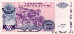 100000 Dinara CROATIE  1993 P.R22a NEUF
