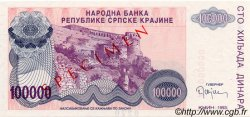 100000 Dinara CROATIE  1993 P.R22s NEUF