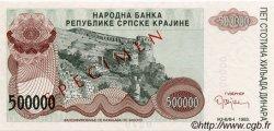 500000 Dinara CROATIE  1993 P.R23s NEUF