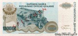 100000000 Dinara CROATIE  1993 P.R25s NEUF