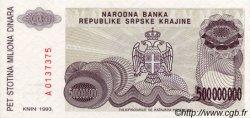 500 000 000 Dinara CROATIE  1993 P.R26a NEUF