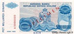 5 000 000 000 Dinara CROATIE  1993 P.R27s NEUF