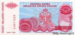 10000000000 Dinara CROATIE  1993 P.R28a pr.NEUF