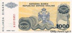 1000 Dinara CROATIE  1994 P.R30a NEUF
