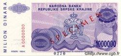 1000000 Dinara CROATIE  1994 P.R33s NEUF