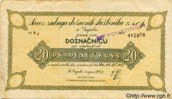 20 Kuna CROATIE Zagreb 1942 P.-- TB+