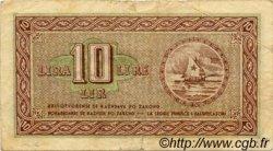 10 Lire CROATIE  1945 P.R03 TB