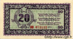 20 Lire CROATIE  1945 P.R04a pr.NEUF
