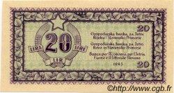 20 Lire YOUGOSLAVIE Fiume 1945 P.R04b NEUF
