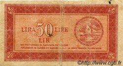 50 Lire YOUGOSLAVIE Fiume 1945 P.R05a B+