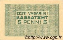 5 Penni ESTONIE  1919 P.39a pr.SPL