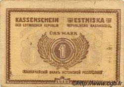 1 Mark ESTONIE  1919 P.43a TB