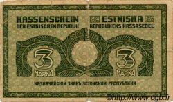 3 Marka ESTONIE  1919 P.44a B