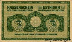 3 Marka ESTONIE  1919 P.44a TTB+