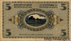 5 Marka ESTONIE  1919 P.45a B+