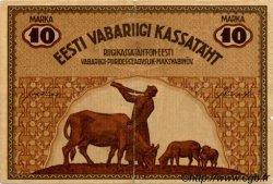 10 Marka ESTONIE  1919 P.46d TB+
