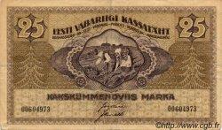 25 Marka ESTONIE  1919 P.47a TB+
