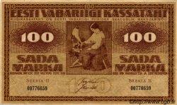 100 Marka ESTONIE  1919 P.48b TTB+