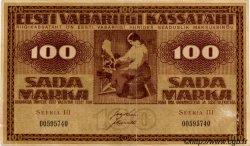 100 Marka ESTONIE  1919 P.48c pr.TB