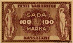 100 Marka ESTONIE  1919 P.48c TTB+