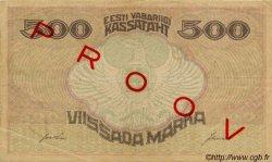 500 Marka ESTONIE  1921 P.49s TTB