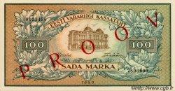 100 Marka ESTONIE  1923 P.51s SPL
