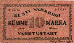 10 Marka ESTONIE  1922 P.53a TB