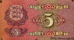 5 Krooni ESTONIE  1929 P.62a TB