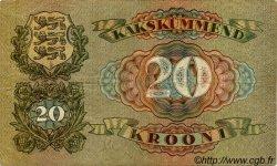 20 Krooni ESTONIE  1932 P.64a TTB