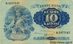 10 Krooni ESTONIE  1937 P.67a SUP