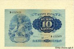 10 Krooni ESTONIE  1940 P.68a pr.NEUF