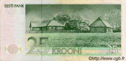 25 Krooni ESTONIE  1992 P.73b TTB