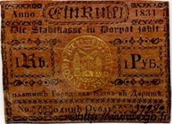 1 Rouble ESTONIE  1831 P.-- TTB