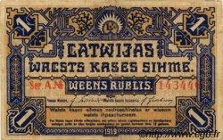 1 Rublis LETTONIE  1919 P.01 TB+