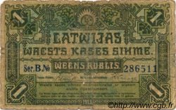 1 Rublis LETTONIE  1919 P.02a AB