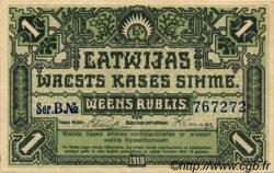 1 Rublis LETTONIE  1919 P.02a SUP