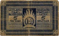 5 Rubli LETTONIE  1919 P.03b AB