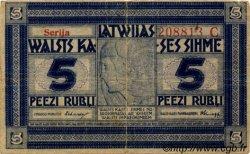 5 Rubli LETTONIE  1919 P.03b TB