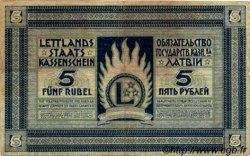 5 Rubli LETTONIE  1919 P.03f TB+