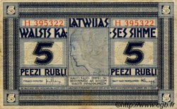 5 Rubli LETTONIE  1919 P.03f TTB