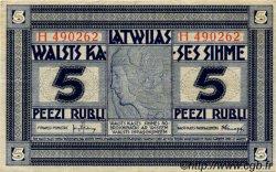 5 Rubli LETTONIE  1919 P.03f TTB+