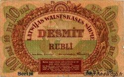 10 Rubli LETTONIE  1919 P.04b B+