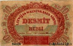 10 Rubli LETTONIE  1919 P.04b TB