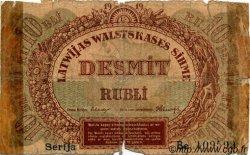 10 Rubli LETTONIE  1919 P.04b AB