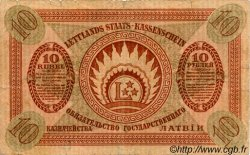 10 Rubli LETTONIE  1919 P.04c TB